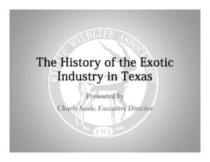 The History of the Exotic Industry in Texas - Cover Page